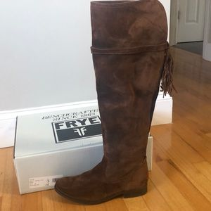 Frye over the knee suede boots